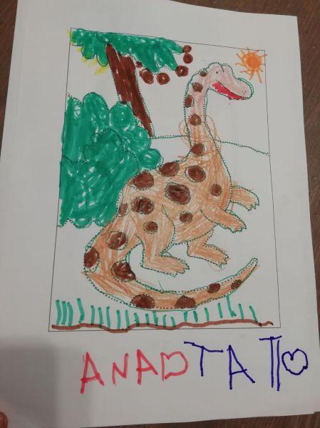 desen cu dinozauri